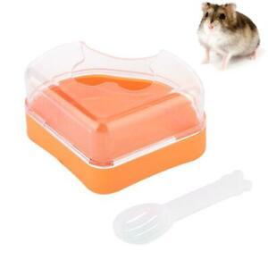 Stylish Small Animal Hamster Sauna Sand Bath Room Bathing Potty Toilet Plastic