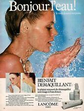▬► PUBLICITE ADVERTISING AD LANCÔME Démaquillant 1978