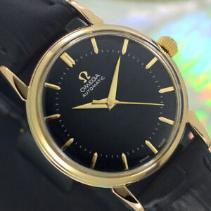 VINTAGE OMEGA AUTOMATIC 20 JEWELS CAL.501 GOLD PLATED ANALOG DRESS MEN'S WATCH