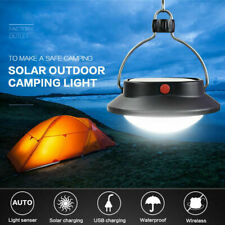 USB Portable Camping Light Solar Lantern Hanging Lamp Hook Tent Outdoor Fishing