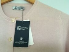Ladies Pure Cashmere Pale Pink Cardigan size Medium/Large Made in Scotland