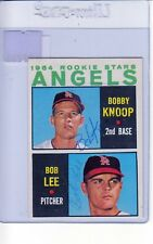 1964 TOPPS AUTOGRAPHED #502 BOBBY KNOPP BOB LEE ANGELS RC GOOD #002445
