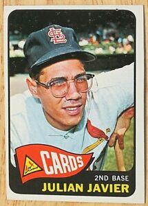 1965 TOPPS BASEBALL SET, #447 Julian Javier, St. Louis Cardinals, EX oc
