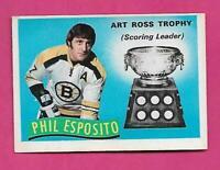 1971-72 OPC # 247 BRUINS PHIL ESPOSITO ART TROPHY EX+ CARD (INV# D5025)