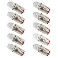 E505W 10PCS Bright White LED Screw Bulb E5 E5.5 12V-14V Spur H0/TT/N Scale NEW