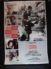 MANIFESTO CINEMA - CORRUZIONE AL PALAZZO DI GIUSTIZIA - 1975 - DRAMMATICO
