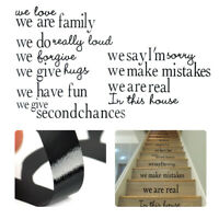 In This House Stairs Wall Sticker Wall Chick Decal Art Sticker Quote Sticker