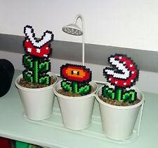 1 Pixel art Mario Fleur / Plantes creations Perles à repasser Hama Sprite