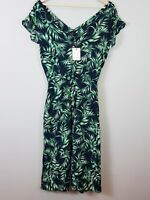PORTMANS Womens Size 10 Tropical Bloom Midi Dress NEW + TAGS