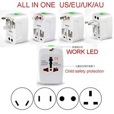 ALL-IN-ONE USA UK US EU AU Travel Power Voltage Adaptor Converter Plug 110v-250V