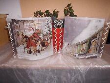 Tischlicht/Windlicht - Weihnachtsmann mit Schlitten - Weihnachten/Winter