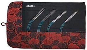 "HiyaHiya 8"" Sharp Steel Flyers Sock Circular Knitting Needle Gift Set"