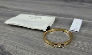 Kate Spade Bracelet Pave Stone Ready Set Bow Jeweled Bangle (Gold)
