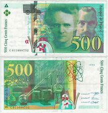 BILLET 500  FRANCS PIERRE ET MARIE CURIE 1994 C 011098752