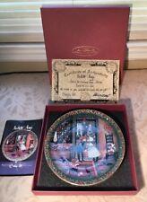 P BUCKLEY MOSS Amish Christmas Magic 1996 Anna Perenna Plate Mistletoe Magic New