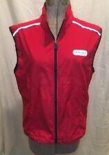 SUGOI Vest Sleeveless Cycling Ladies Size M Red Open Mesh Back Waterproof Bike