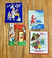 Vintage Childrens Happy Birthday Cards Lot of 4 Unused NOS