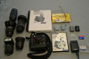 Nikon D100 Body, 4 Lenses, Camera Bag, and all accessories