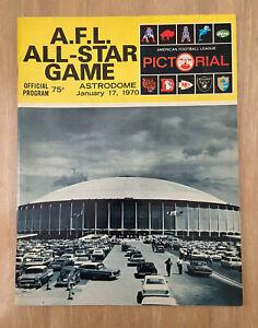 VINTAGE 1970 AFL ALL-STAR GAME FOOTBALL PROGRAM BRONCOS RAIDERS CHIEFS PATRIOTS