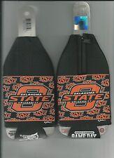 Oklahoma State OSU Koozie Set of 2 Team Cowboys Logo Drink Bottle Koozies New