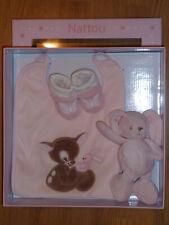 Doudou Peluche Lapin Rabbit Bunny Set Accessoires Nattou bavoir chaussette bébé