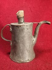 19 c Antique Handmade Copper ( Plated w Other Metal ) Oil Can Oiler Scandinavia