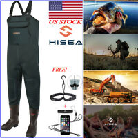 HISEA Neoprene Insulated Chest Waders Rubber Bootfoot Waders for Fishing Hunting