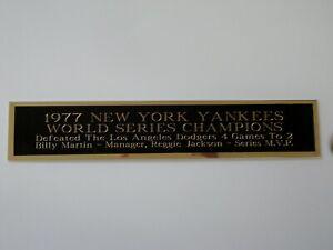 New York Yankees 1977 World Series Nameplate For A Baseball Jersey 1.5 X 6