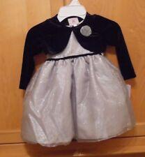 Marmellata Classics 24 M 3 Piece Set Dress Silver/Black NWT Beautiful!