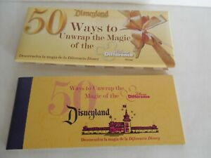 Disneyland 50th Anniversary Cast Member Disney Difference Coupon Ticket Book