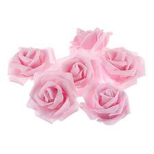 10pcs Pink Foam Roses Artificial Flower Wedding Bride Bouquet Party Decor