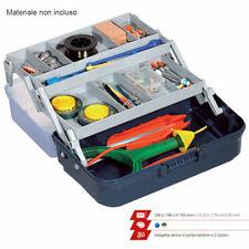 Cassetta valigetta da pesca per porta attrezzi minuterie ami piombi a 2 ripiani