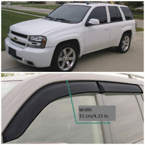 CE31102 Window Visors Vent Wide Deflectors For Chevrolet Trailblazer 2002-10