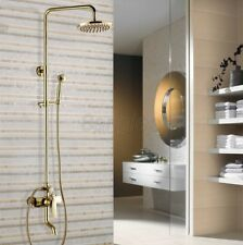 Wall Mounted Luxury Gold Color Brass Single Handle Rain Shower Faucet Set 8gf304