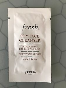 FRESH SOY FACE CLEANSER EXTRA GENTLE FOR FACE AND EYES  0.14 fl oz 4 ml Lot Of 2