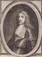 Portrait XVIIIe Jean II D'Estrées Maréchal Vice Amiral du Ponant Marine Royale