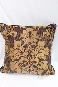 """Croscill Home Bedding  Monique 20"""" Square Decorative Bed Pillow Beige /Brown $50"""