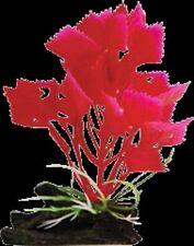 Aqua One A1-28181 Plastic Plant Red Varigated Hygrophila w/Log Base (S) for Aqua