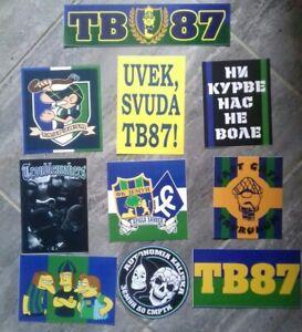 10 x Football Ultras Stickers FC ZEMUN TAURUNUM BOYS