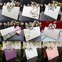 New 10 Pcs Laser Cut Crown Name Place Seat Card Wedding Invitation Table Cards