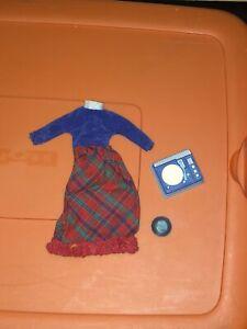 VTG Barbie Doll Skipper Platter Party #1914 Red Blue Dress Record Player 1965