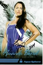 Amanda Beard Signed Aqua Sphere 6x9 Promo Photo US Olympic Swimmer #1