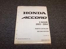 2003-2004 Honda Accord Coupe Factory Parts Catalog Manual DX LX EX 2.4L 3.0L V6