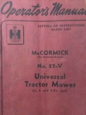 Mccormick International 27 V 3 Point Sickle Mower Owner Service Amp Parts Manual