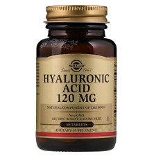 NEW SOLGAR HYALURONIC ACID NATURAL BODY COMPONENT GLUTEN FREE DAILY SUPPLEMENT