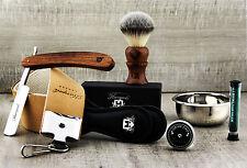 5 Pezzi Stile Vintage men's Set da barba con Taglio Gola Barbiere Rasoio (vecchio stile)