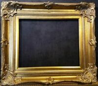 "5"" Antique Gold Leaf Ornate photo Oil Painting Wood Picture Frame 801G 30x40"
