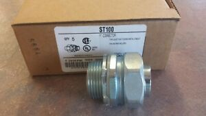 """ST100 Appleton 1""""  Steal Liquid Tight Connector NEW"""