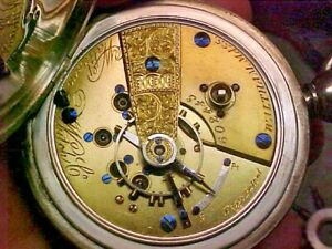 Waltham Original Coin Silver 18S 15J Open Face Keywind Pocket Watch #602443