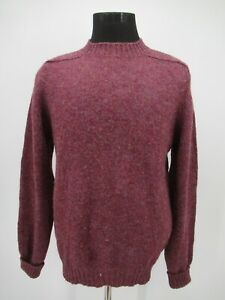 P3668 VTG Pendleton Men's 100% Wool Pullover Sweater Made in USA Size L